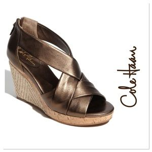 Cole Haan Air Delfina Cork & Jute Wedge Sandal